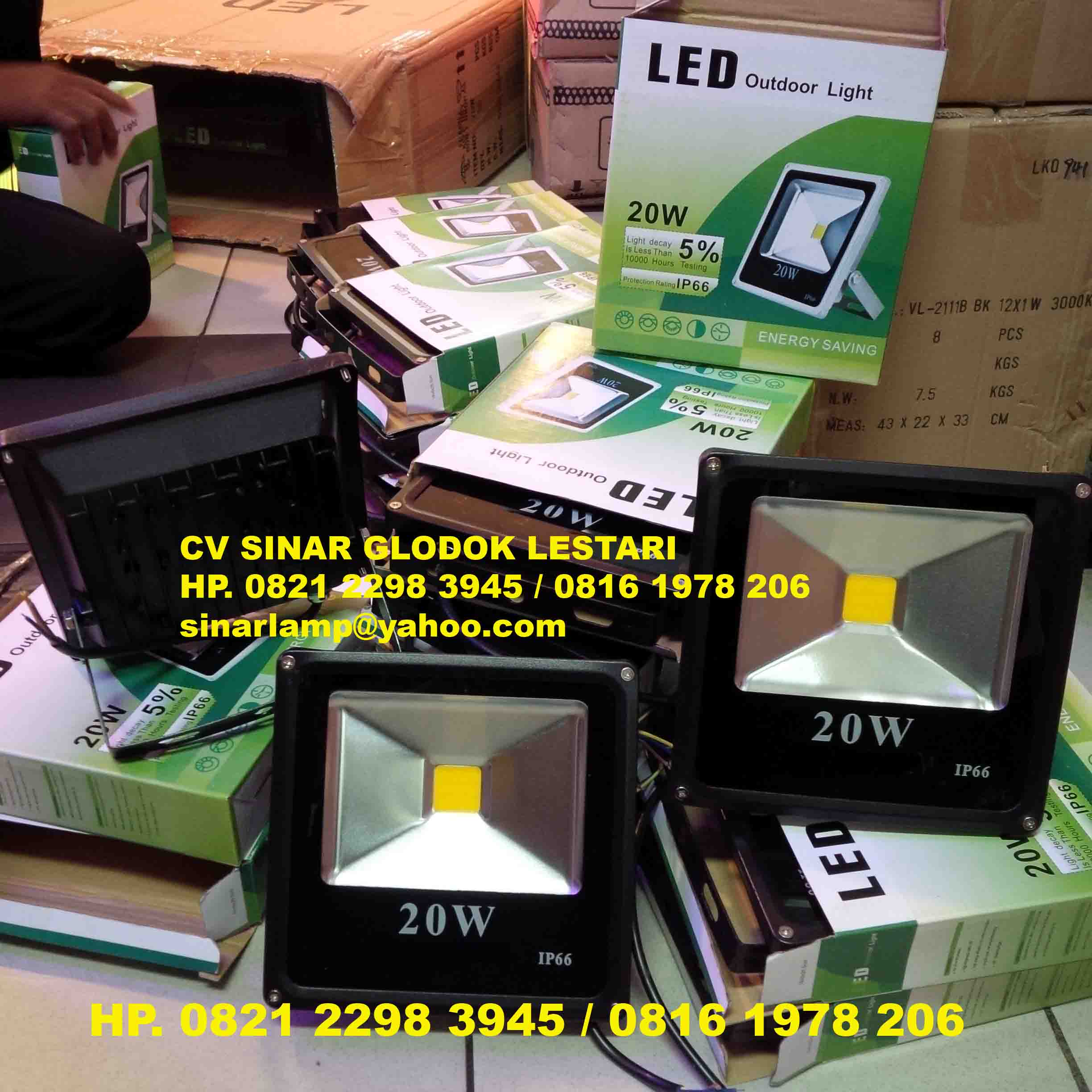 Lampu sorot led 20 watt full bright